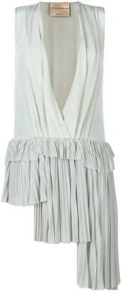 Cavallini Erika pleated asymmetric blouse