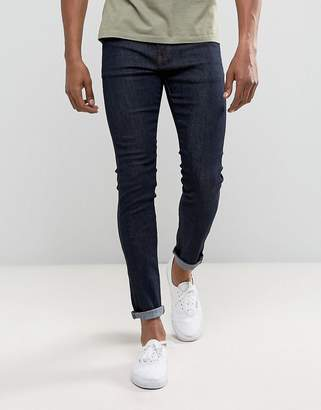 Dr. Denim Jeans Snap Skinny in Blue Raw