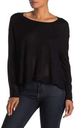 InCashmere In Cashmere Silk Blend Drop Needle Stitch Detail Top