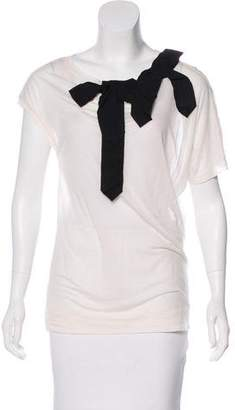 By Malene Birger Bow-Accented Knit Top w/ Tags