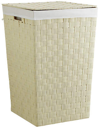 ColourMatch 60 Litre Yarn Laundry Bin - Cream