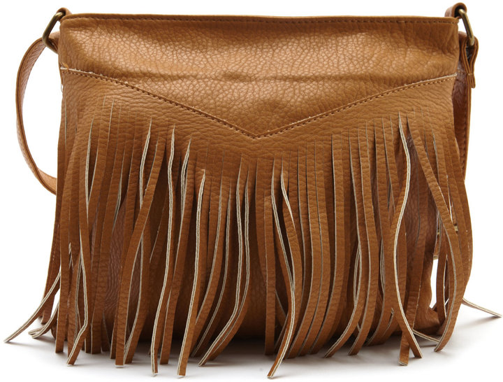 Fringe Panel Cross-Body Bag