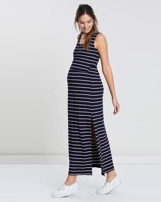 Angel Maternity Nursing Mama Maxi Dress