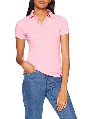 Superdry Women's Classic Polo Shirt, (Pastel Pink), (Size: Small)