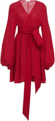 Kalita Gaia Wrap-Effect Cotton-Gauze Mini Dress