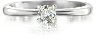 Forzieri 0.23 ctw Diamond 18K White Gold Solitaire Vanity Ring