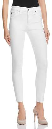 AG Farrah Skinny High-Rise Ankle Jeans in White $188 thestylecure.com