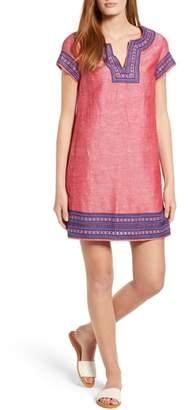 Vineyard Vines Embellished Cotton & Linen Tunic Dress