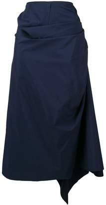 Marni gathered wrap skirt