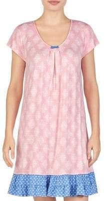 Ellen Tracy Printed Short-Sleeve Sleepshirt