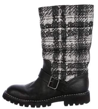 Chanel Leather Snow Boots