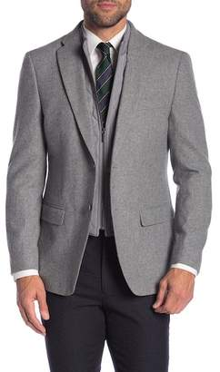 Tommy Hilfiger Detachable Vest Collar Wool Blend Sport Coat