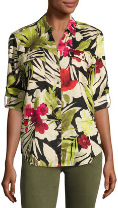 Tommy Bahama Victoria Blooms Floral-Print Linen Shirt, Multi $89 thestylecure.com