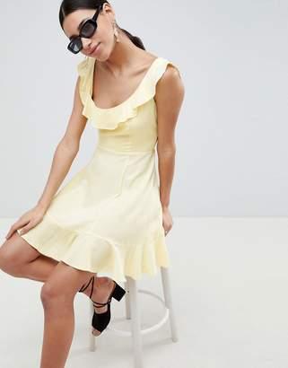 Asos DESIGN Mini Ruffle Skater Dress
