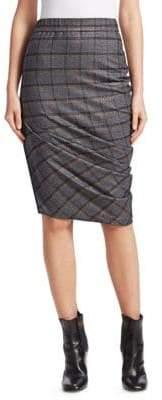 Brunello Cucinelli Plaid Pencil Skirt