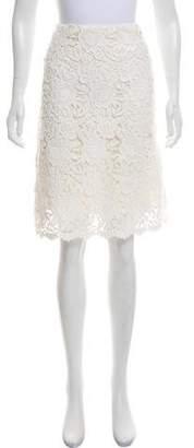 Prada Guipure Lace Knee-Length Skirt