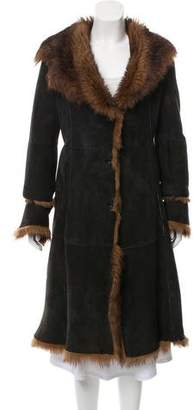 Andrew Marc Shearling Shawl Collar Coat