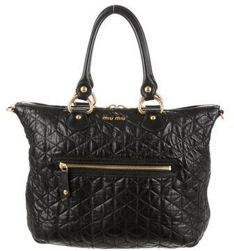 Miu Miu Miu Miu Quilted Leather Satchel