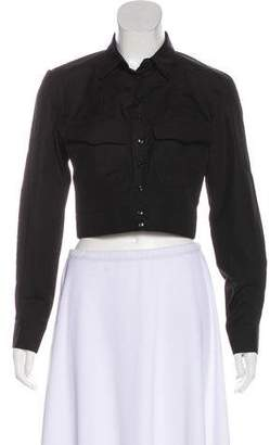 Alaia Long Sleeve Cropped Button-Up