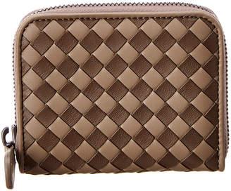 Bottega Veneta Checker Intrecciato Leather Coin Purse