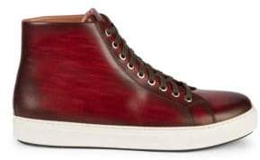 Magnanni Brando Leather High-Top Sneakers
