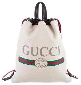 Gucci 2018 Logo Drawstring Backpack
