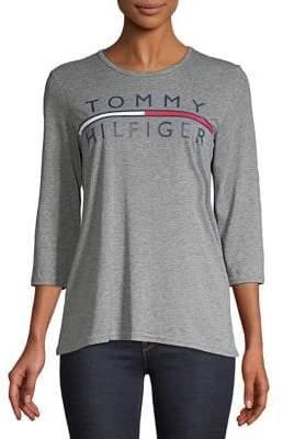 Tommy Hilfiger Performance Logo Three-Quarter Sleeve Tee
