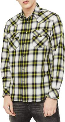 Diesel S-East-Long-G Plaid Shirt