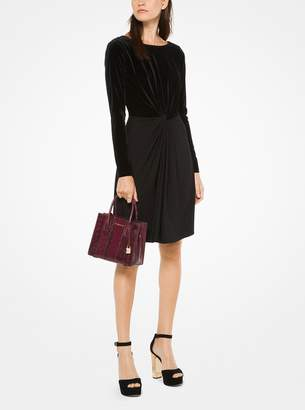 MICHAEL Michael Kors Velvet Matte-Jersey Dress