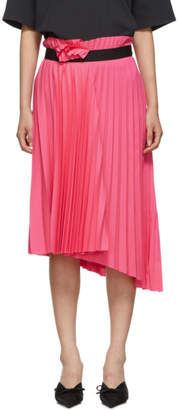 Balenciaga Pink Pleated Elastic Skirt