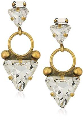 Sorrelli Lisa Oswald Collection Triangle Crystal Drop Earrings