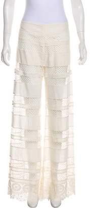 Alexis Crochet Lace Panel Wide-Leg Pants w/ Tags