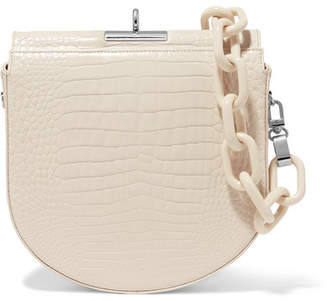 Off-White Gu de - Demi-lune Croc-effect Leather Shoulder Bag