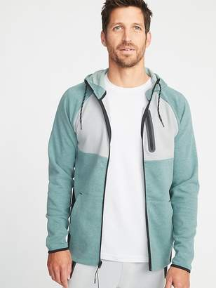 Old Navy Dynamic Fleece 4-Way-Stretch Color-Block Zip Hoodie for Men