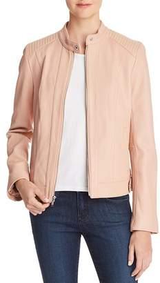 Cole Haan Leather Zip Jacket