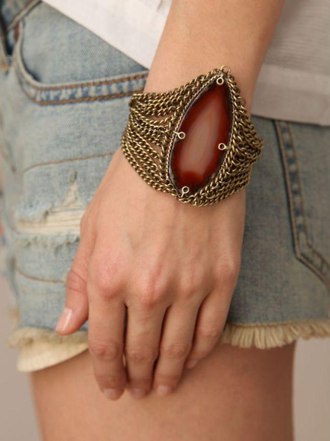 Coyote Stone & Chain Bracelet