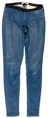 Helmut Lang Zip-Accented Denim Leggings