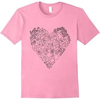 Adult Coloring Valentine Heart Self Coloring T-Shirt