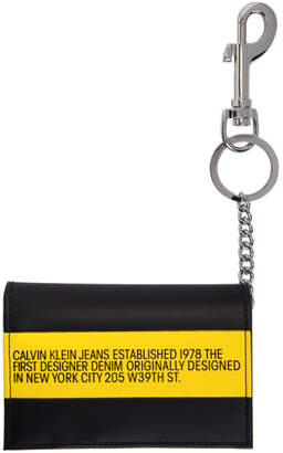 Calvin Klein Jeans Est. 1978 Black and Yellow Logo Wallet