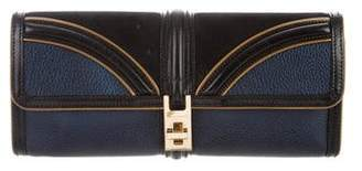 Burberry Leather & Suede Clutch