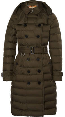Burberry Quilted Shell Down Coat - Army green