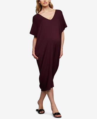 A Pea in the Pod Maternity V-Neck Midi Dress