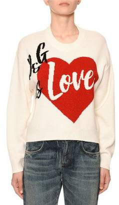 Dolce & Gabbana Cashmere Is Love Intarsia Sweater