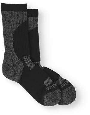 Dickies Women's All Season Crew Socks, Black, Shoe Size 6-9