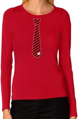 DAY Birger et Mikkelsen Tstars Stripes Heart Tie Love Women Long Sleeve T-Shirt