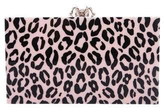 Charlotte Olympia Leopard Print Pandora Box Clutch