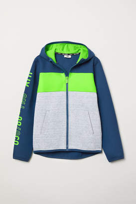 H&M Hooded Sports Jacket - Green