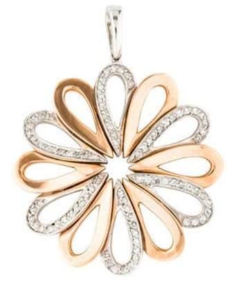 14K Diamond Flower Pendant white 14K Diamond Flower Pendant