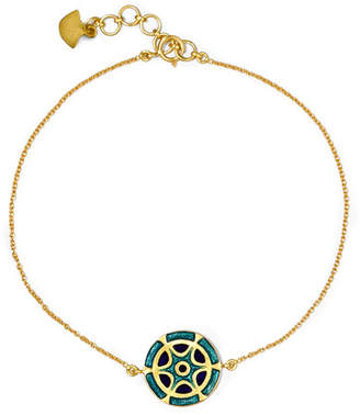Amrapali 18-karat Gold And Enamel Bracelet