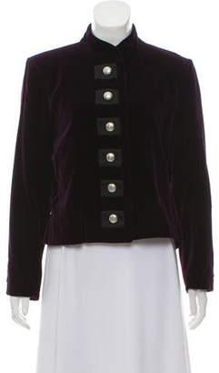 Saint Laurent Button-Up Velvet Jacket